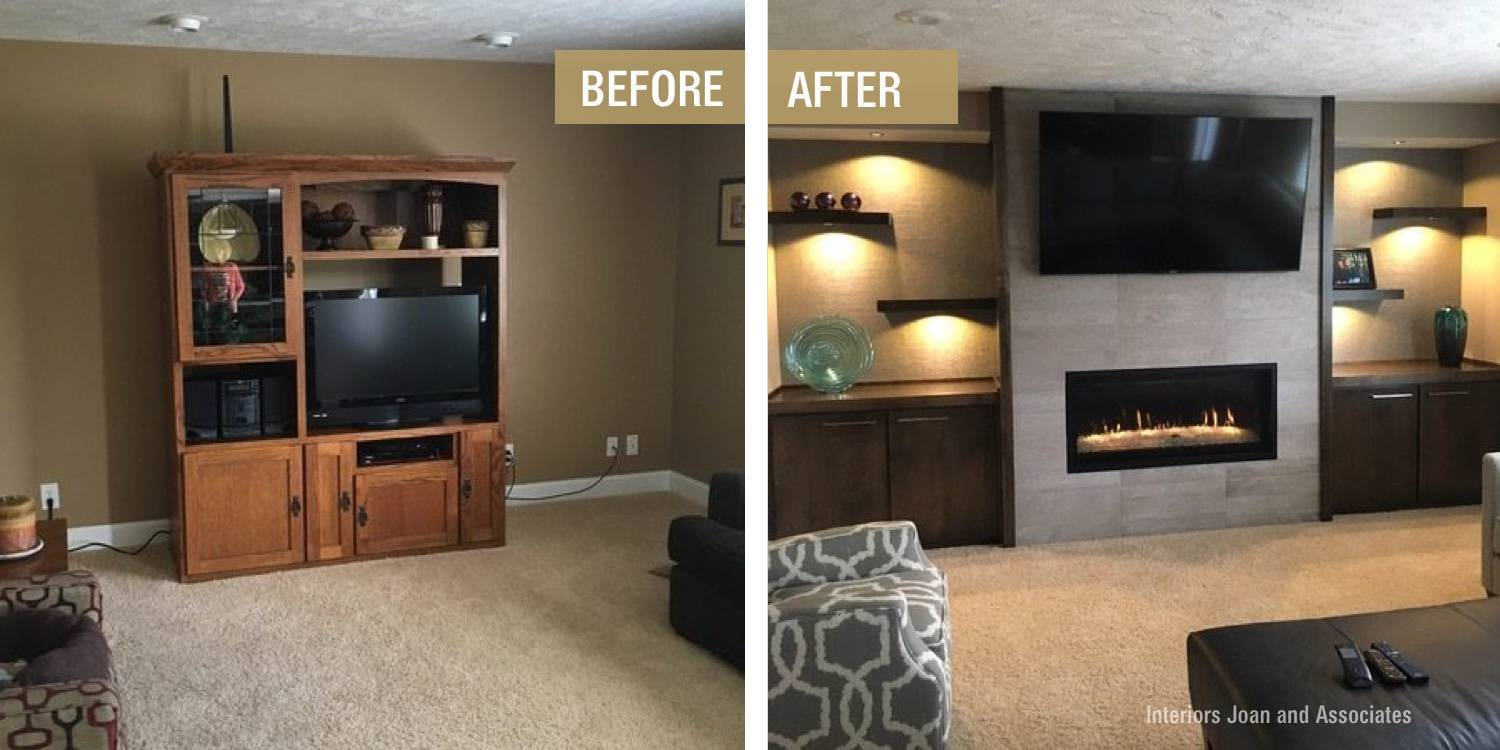 Before and After Basement Makeover